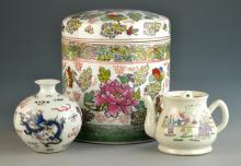 (3) Pcs. Chinese Famille Rose Porcelain