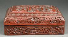 Chinese Cinnabar Box & Cover