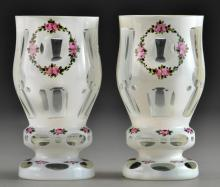 Pair Fine Enameled Bohemian Glasses