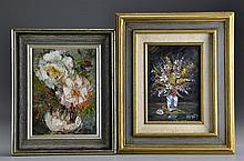 (2)American School Oil Paintings on Board