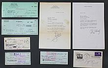 (9) Signed Checks, Letters, Zeppo Marx, Helen Hayes, Etc.