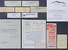 (12) 19th-20th C. Signed Checks, Letters By Noted Persons