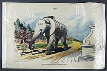 1908 Judge Magazine Illustration  The Republican Elephant