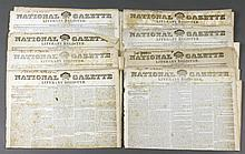 (49) 1832 -1835 National Gazette Newspapers