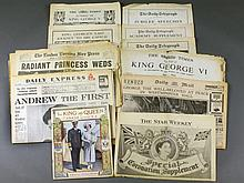 (14) 1871-1960 British Royal Family Newspapers,Magazine