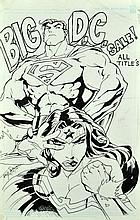 2000 Troy Sullivan Super Hero Pen & Ink Drawing