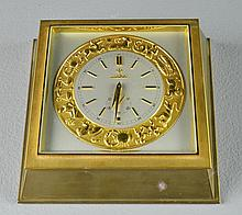 A Fine Bronze Zodiac Desk Clock