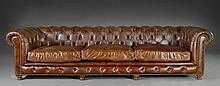 A Restoration Hardware Kensington Leather Sofa
