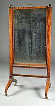 A Fine Regency Period Mahogany Cheval Mirror