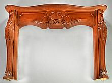 French Louis XV Style Carved Wood Mantle