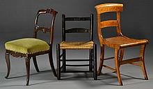 (3) Various Antique Side Chairs