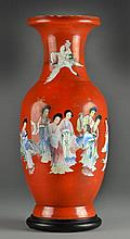 A Large Chinese Republic Famille Rose Porcelain Vase
