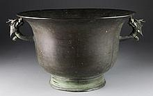 A Large Chinese Qing Bronze Basin