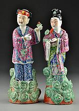 Pr. Chinese Famille Rose Porcelain Figures