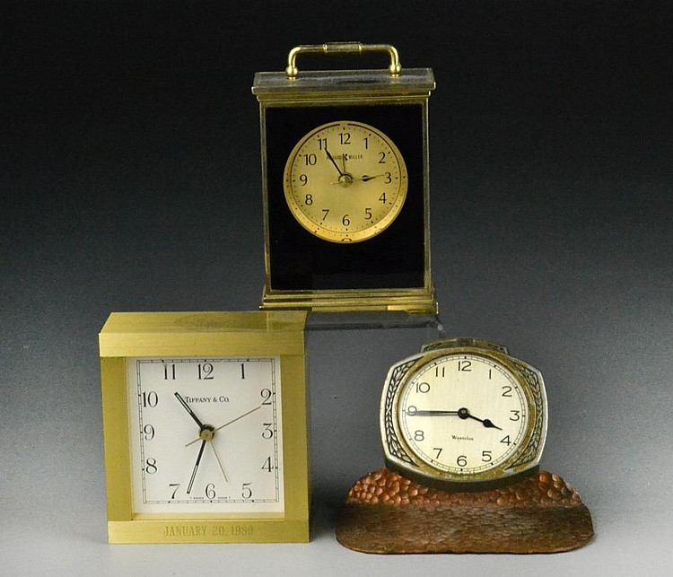 (3) Desk Clocks - Tiffany, Howard Miller & Westclox