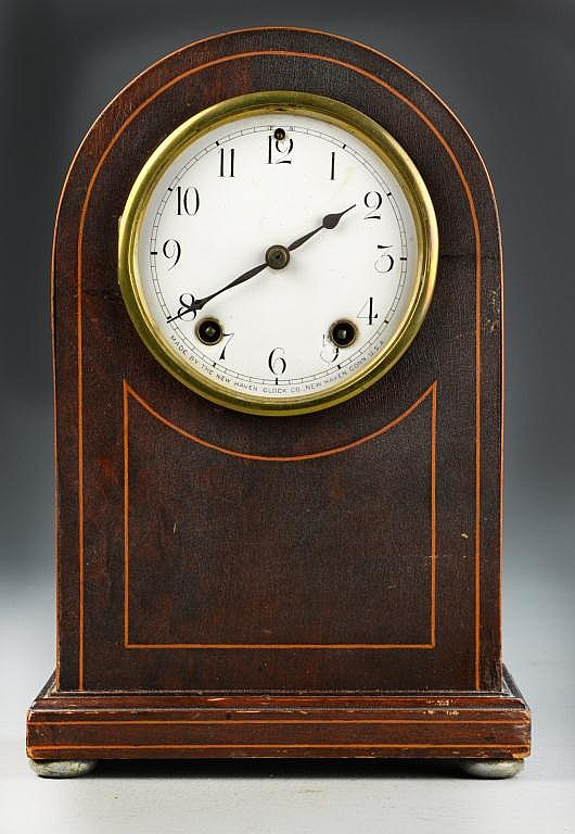 New Haven Mahogany Mantle Clock