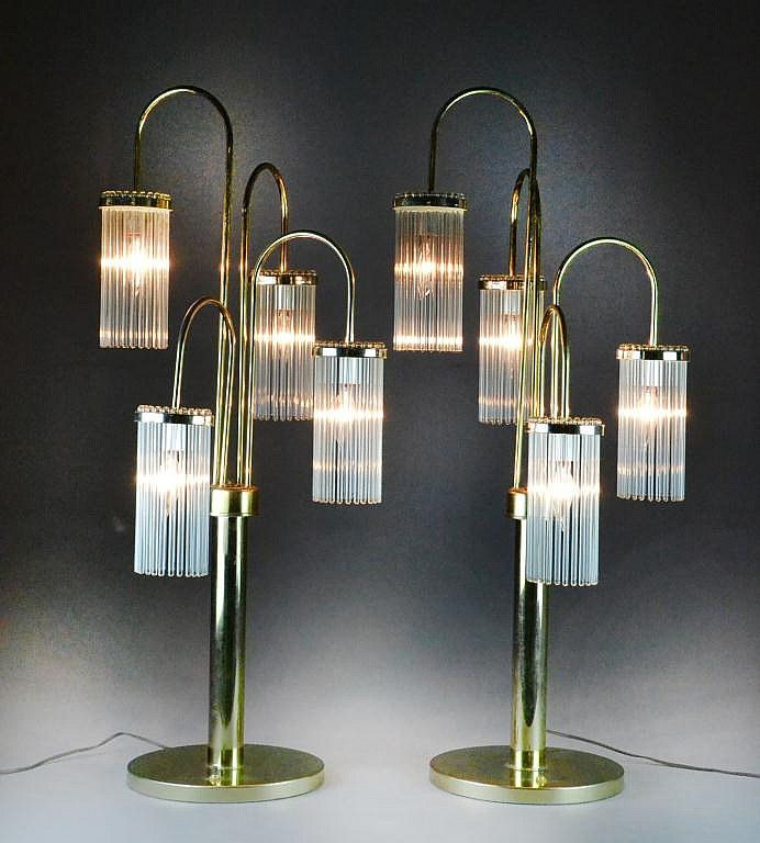 Pr. Gaetano Sciolari Mid Century Waterfall Lamps