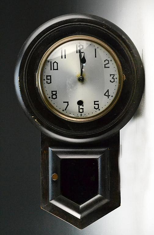 Antique American School Clock
