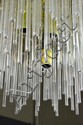 Gaetano Sciolari Att. Lightolier Brass Chandelier