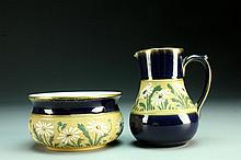 A Langley Mill Miniature Porcelain Pitcher and Basin