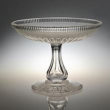 A Fine Antique Cut and Frosted Glass Compote