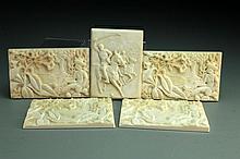 (5) Pcs Porcelain Plaques