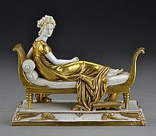 A Kister Porcelain Factory Figure of Madame Recamier