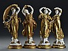 (4) German Volkstedt Porcelain Figurines