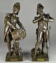 Pair Etienne-Henry Dumaige Bronze Sculptures