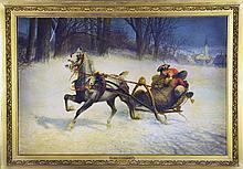 A Jan Van Chelminski Oil Painting on Board