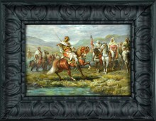 Manner of Adolph Schreyer Oil Painting On Canvas