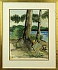 Oscar Florianus Bluemner Watercolor Painting