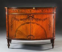 An Inlaid Demilune Hall Table