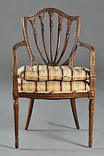 A French Shield Backed Open Arm Chair