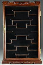 A Chinese Rosewood  Wall Hanging Cabinet