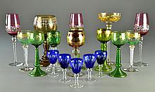 (18) Pcs Bohemain Glass Stemware