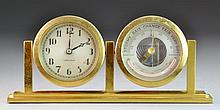 A Chelsea Brass Ship's Clock & Barometer
