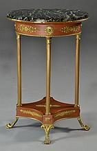 A French Mahogany Gilt Metal & Marble Table