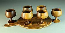 (7) Pcs Danish Teakwood(?) Decorative Arts