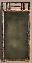 A Gilt Wood Bamboo Style Rectangular Mirror