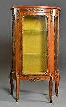 A Petit French Walnut Curio Cabinet