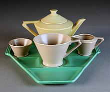 A (5) Pc Royal Cauldon Art Deco Tea Set