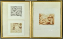 John Coble (3) Framed Etchings Style Of Picasso
