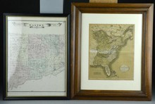 (2) Pcs Early Framed Maps