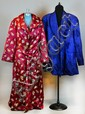 (2) Japanese Silk Kimono And Short Robe