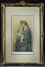 Fine Art Nouveau Giltwood Frame & Antique Litho