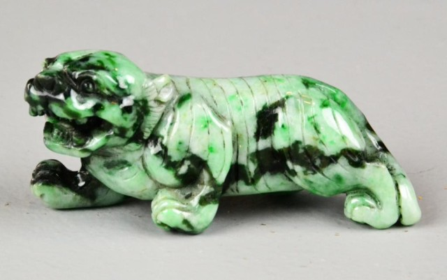 Chinese Carved Jadeite Tiger
