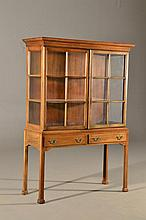 Chippendale Style Mahogany Curio Cabinet