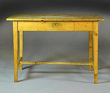 (1) American Waxed Pine Table
