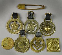 (8) Brass Articles Including Horse Brasses